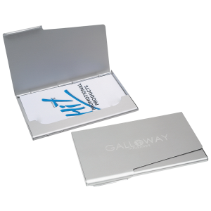 Aluminum business card holder shippam associates inc employee aluminum business card holder reheart Image collections