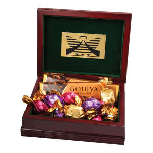 Large Wood Box with 6 Assorted Godiva®? Chocolates