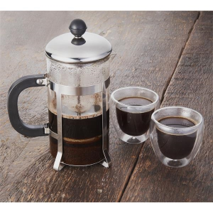 Modena Coffee Press and Glass Set
